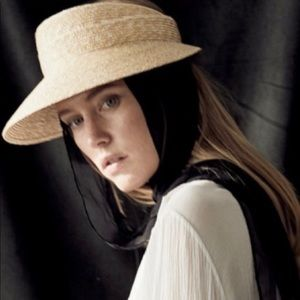 JANESSA LEONE Arielle Straw Hat Visor